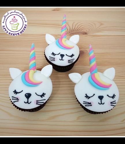 Cat Themed Cupcakes - Unicorn