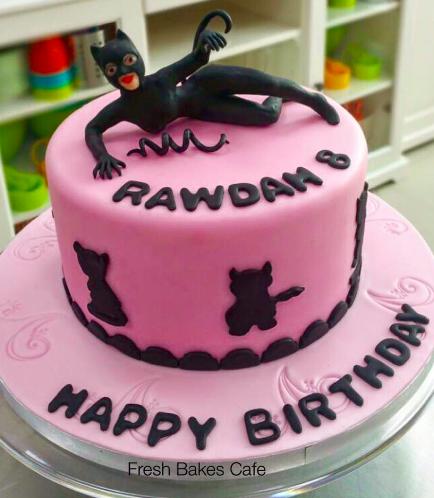 Cat Woman Themed Cake