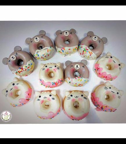 Cat & Bear Themed Donuts