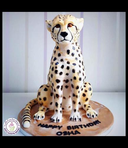 Cheetah Themed Cake - 3D Cake 01a