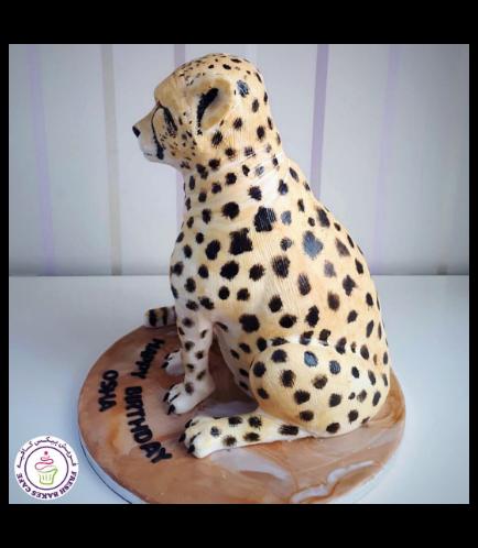 Cheetah Themed Cake - 3D Cake 01b
