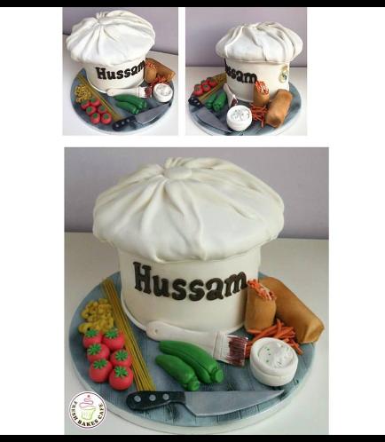 3D Chef Hat Cake 02