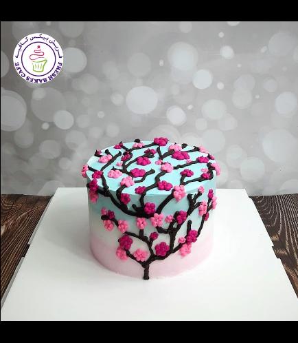 Cake - Cherry Blossom - Cream Cake 01