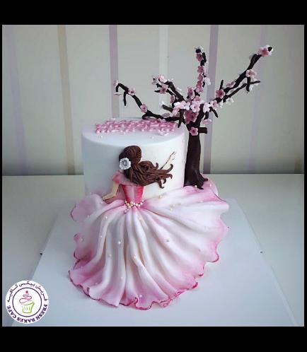 Cherry Blossom Themed Cake 01