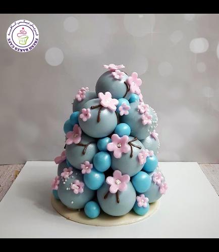 Cherry Blossom Themed Cake Pops Tower