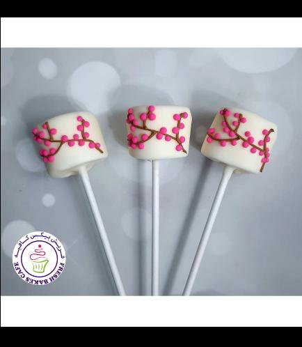 Cherry Blossom Themed Marshmallow Pops