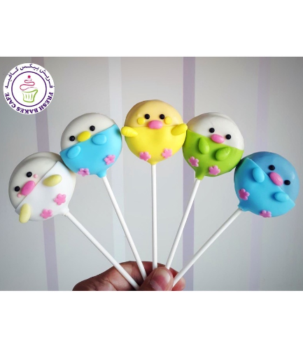 Chick Themed Donut Pops