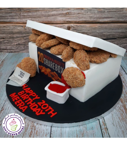 Chicken McNuggets ShareBox Themed Cake