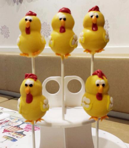 Chicken Themed Cake Pops