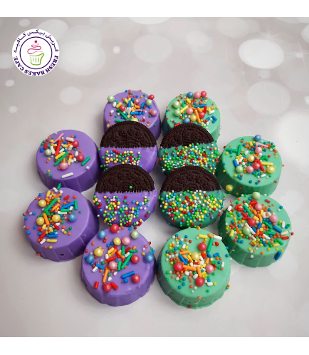 Chocolate Covered Oreos with Sprinkles