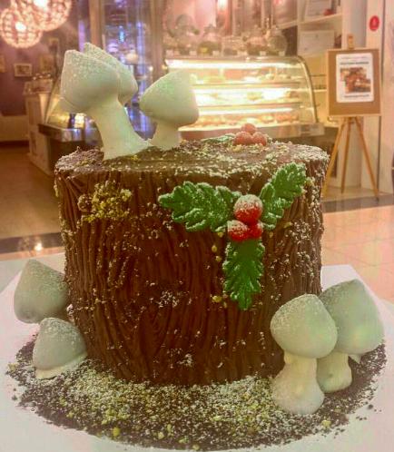 Cake - Dessert - Yule Log Cake 01
