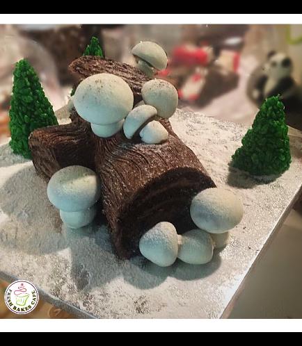 Cake - Dessert - Yule Log Cake 04