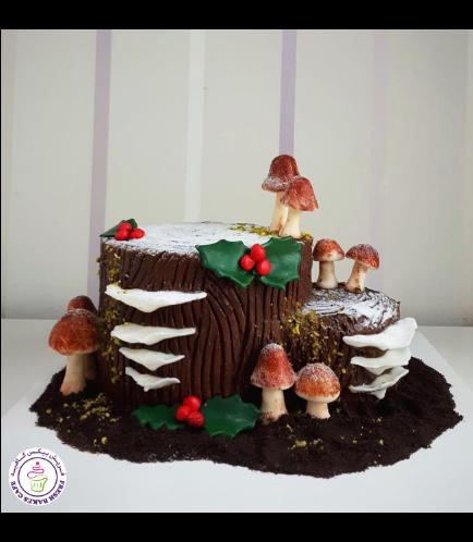 Cake - Dessert - Yule Log Cake 05