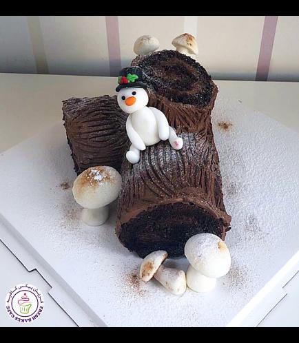 Cake - Dessert - Yule Log Cake 07