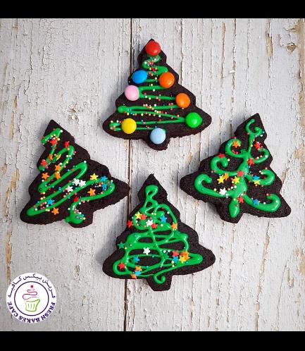 Christmas Themed Brownies - Christmas Trees 01