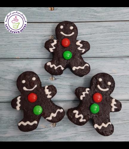 Christmas Themed Brownies - Gingerbread Men 01