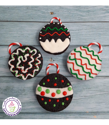 Christmas Themed Brownies - Ornaments