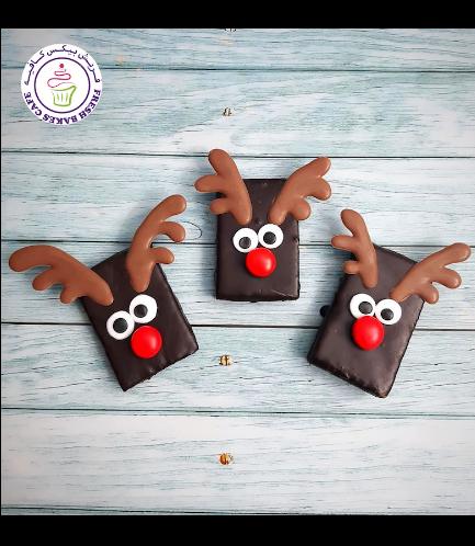 Christmas Themed Brownies - Reindeers 02