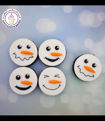 Christmas Themed Brownies - Snowmen