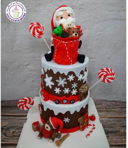 Cake - Decorative - Santa - 3D Cake Toppers - 2 Tier 02