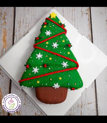 Cake - Decorative - Christmas Tree - 2D Cake