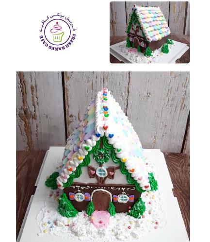 Cake - Decorative - Gingerbread House - 3D Cake 01