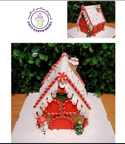 Cake - Decorative - Gingerbread House - 3D Cake 02