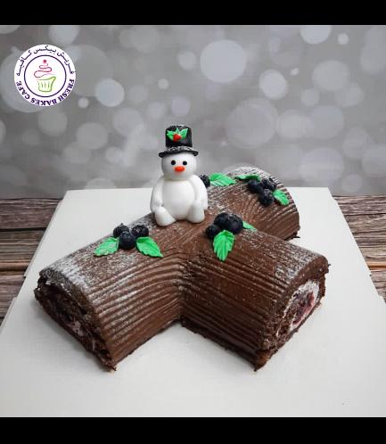 Cake - Dessert - Yule Log Cake 08