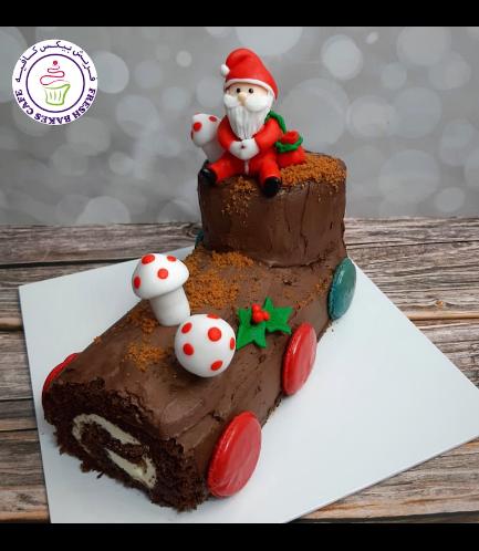 Cake - Dessert - Yule Log Cake 03