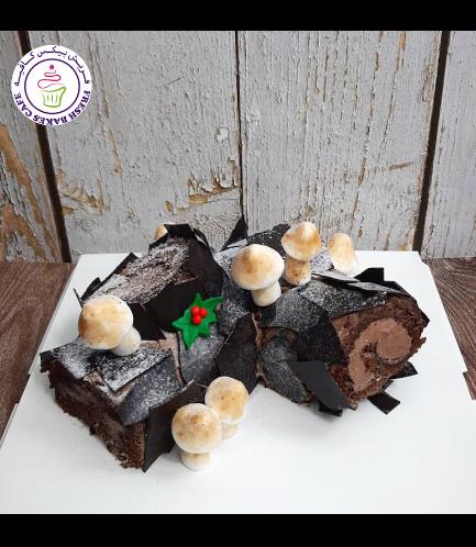 Cake - Dessert - Yule Log Cake 06
