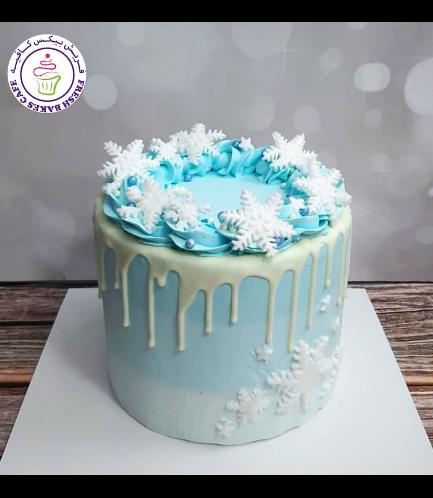 Cake - Decorative - Snowflakes - Cream - Funfetti Cake