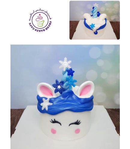 Cake - Decorative - Unicorn - Fondant Cake - Snowflakes 03