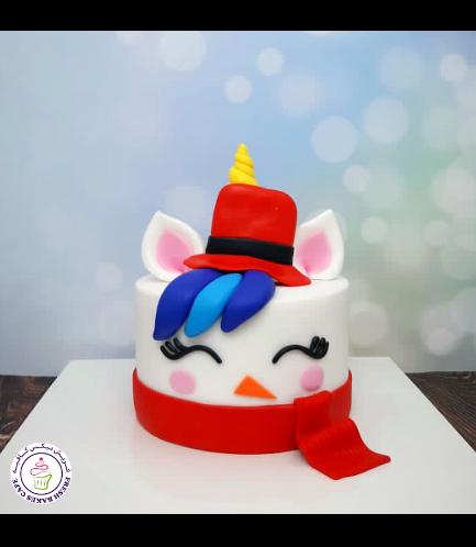 Cake - Decorative - Unicorn - Fondant Cake - Snowman 01