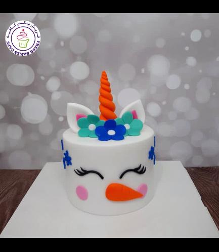 Cake - Decorative - Unicorn - Fondant Cake - Snowman 02