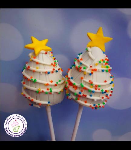 Cake Pops - Christmas Trees - White
