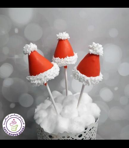 Cake Pops - Santa's Hat