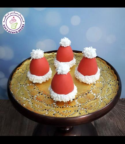 Cake Pops w/o Sticks - Santa's Hat