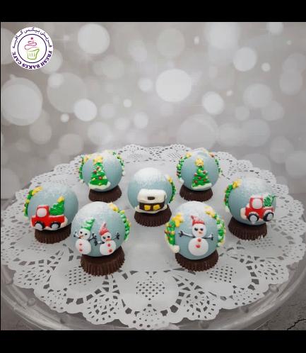 Cake Pops w/o Sticks - Snow Globes