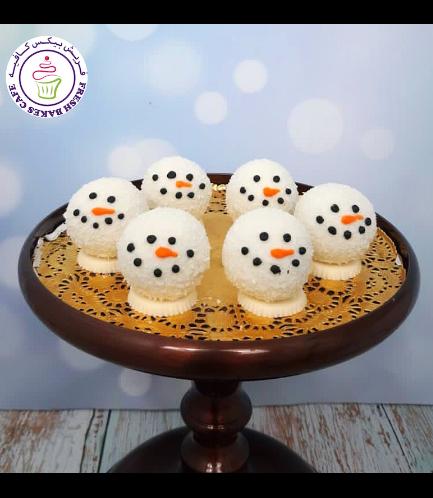 Cake Pops w/o Sticks - Snowmen 02
