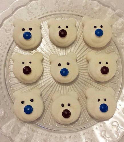 Chocolate Covered Oreos-Polar Bear