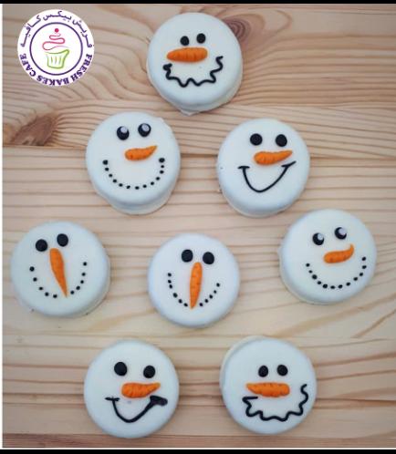 Christmas Themed Chocolate Covered Oreos - Snowmen 02