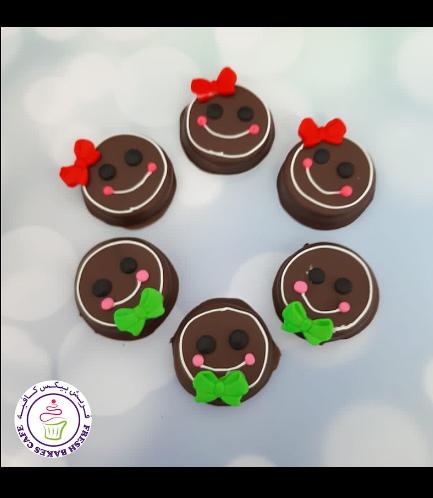 Chocolate Covered Oreos - Gingerbread Boys & Girls