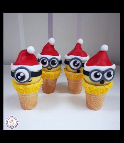 Cone Cake Pops - Minions