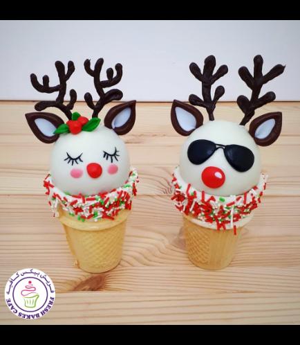 Cone Cake Pops - Reindeers 02