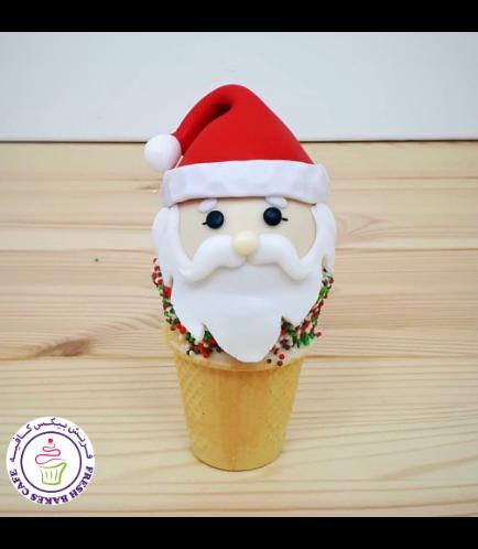 Cone Cake Pops - Santa 01