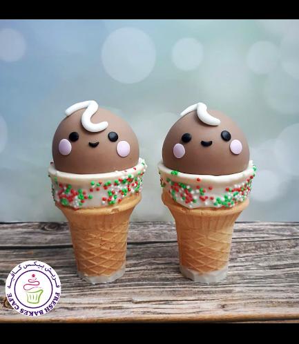 Cone Cake Pops - Gingerbread Boys