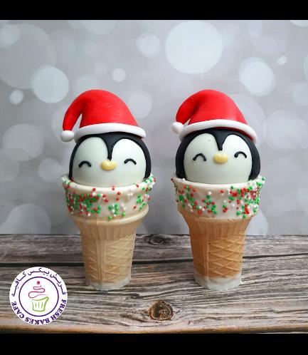 Cone Cake Pops - Penguins