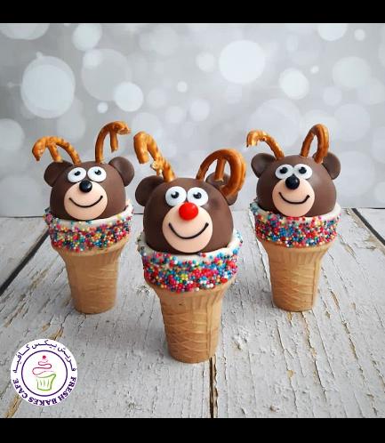 Cone Cake Pops - Reindeers 01
