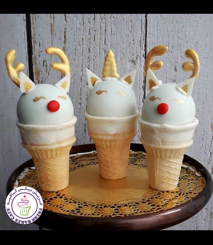 Cone Cake Pops - Reindeers & Unicorn
