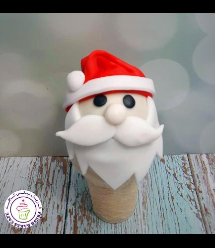 Cone Cake Pops - Santa 02